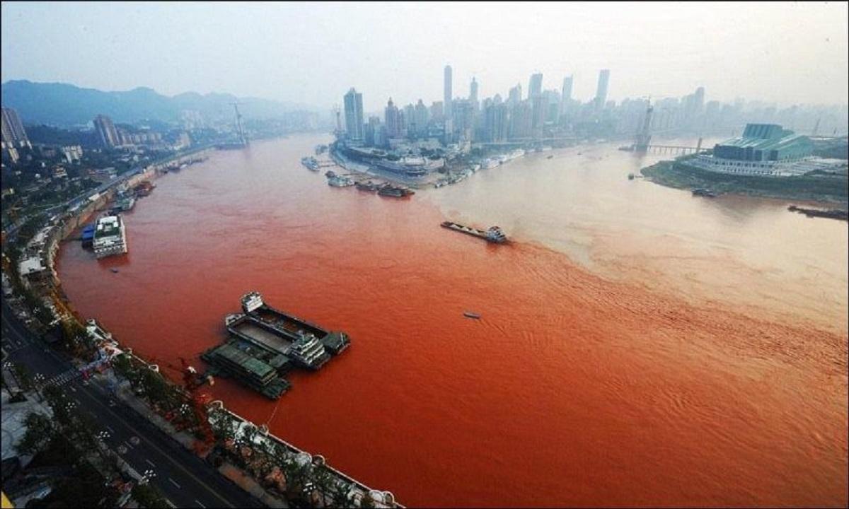 Загрязнение рек в Китае