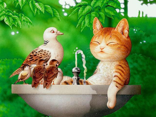 Кошачий позитив от Makoto Muramatsu7