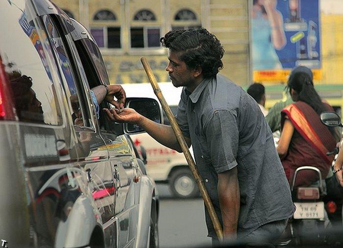 Попрошайки в Индии2