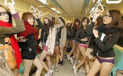 жительницы Тайваня устроили специальную акцию в публичном метро